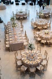 gold and white wedding reception table layout st pete museum of