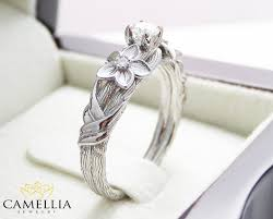tree branch engagement ring branch engagement ring 14k white gold engagement ring