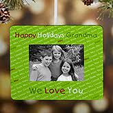 personalized photo ornaments with design