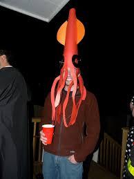 kkk costume halloween super quick last minute squid costume 4 steps