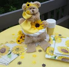 teddy centerpieces for baby shower burlap sunflower centerpieces sunflower baby shower rustic baby