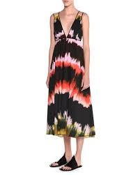 tomas maier sleeveless paint striped sundress multi colors
