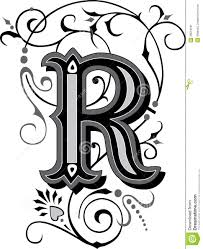 beautiful ornament letter r stock image image 38518181