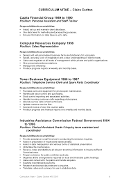 Personal Assistant Sample Resume by Claire Carlton Resume Long Version