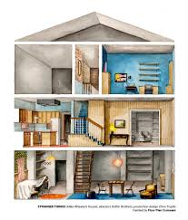 artist boryana ilieva creates illustrations of floorplans from tv