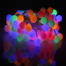 Outdoor Battery String Lights 33 Feet 100 Led Outdoor Globe String Lights 8 Modes 3aa Battery