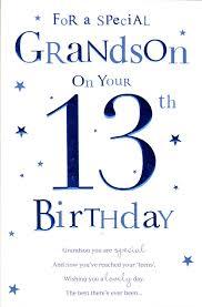 grandson 13th birthday birthday card ebay