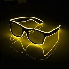 glow party supplies glasses el wire led glasses glowing party supplies