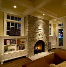 Off White Walls by Transitional Fireplace Family Room Beach Style With Off White