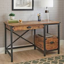 better homes and gardens rustic country desk weathered pine