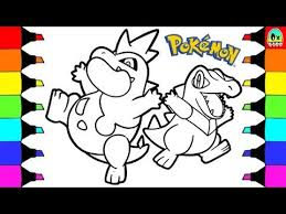 pokemon coloring pages totodile pokemon coloring pages totodile colouring book fun for kids youtube