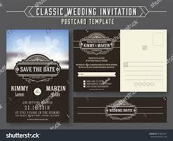 Wedding Invitation Cards Design Classic Vintage Wedding Invitation Card Design Stock Vector