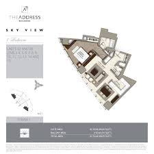 Floor Plans By Address by Address Residence Sky View Emaar Properties