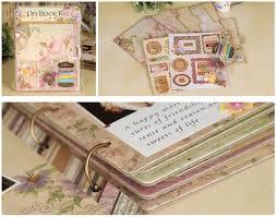 scrapbook binder chipboard travel scrapbook album kit for beginner 3 ring