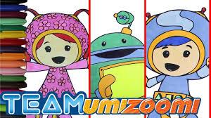 team umizoomi coloring episode 13 milli geo bot