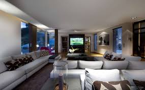 Decorating A Large Room Elegant Modern Large Living Room With White L Shaped Sectional