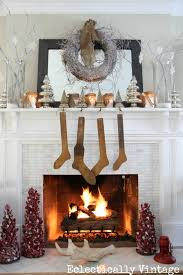 Christmas Decorations With White Branches by Winter White Christmas Mantel Kelly Elko