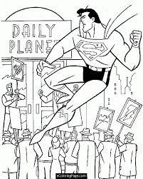 printable superman coloring