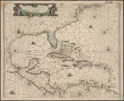 Map Of West Indies 1661 Dutch Map Of Caribbean And West Indies Showing New Netherland