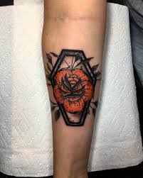 halloween black roses halloween inspired orange rose black coffin tattoo justin