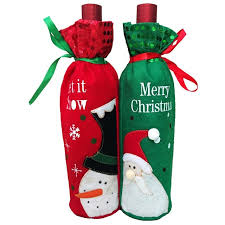wine christmas gifts santa claus snowman wine bottle chagne cover bag wine