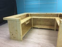 Rustic Wood Desk The Cashwrap 10 X 8 X 10 Rustic Wood Sales Counter Reception