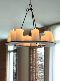 pillar candle chandelier simple dining room with bronze brown