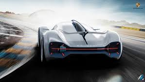 electric porsche supercar porsche electric le mans concept