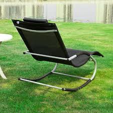 rocking recliner garden chair haotiangroup rakuten haotian rocking black lounge patio chairs