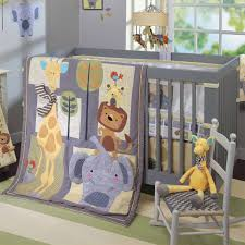 Safari Nursery Bedding Sets by Gender Neutral Crib Bedding Set With Grey Safari Theme Comforter