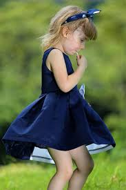 online shop sale baby summer dresses with navy and white