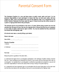 parent consent form sample 9 examples in pdf