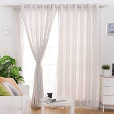 White Window Curtains White And Gray Office Window Curtains With Striped Lines