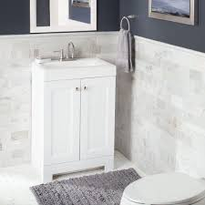 Home Depot White Bathroom Vanity by Glacier Bay Shaila 24 5 In W Bath Vanity In White With Cultured