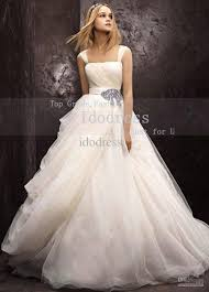 discount top brand wedding dresses a line bateau sash