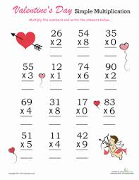 valentine u0027s day multiplication practice worksheet education com