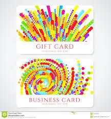 Corporate Invitation Card Design Colorful Gift Card Design Template Stock Vector Image 55751352