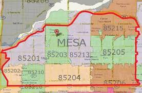 mesa az map mesa az zip code map zip code map