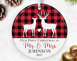 first christmas ornament married wedding ornament wedding