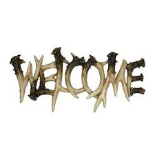 Rivers Edge Home Decor by Antler Welcome Plaque Deer Cabin Home Decor Hanging Sign Country