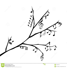 musical notes pop tree white stock photos image 3077753