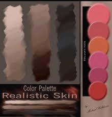 color palette realistic skin blush set by dearfellowartist on