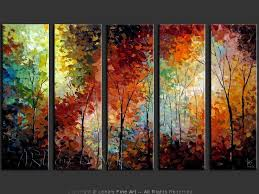 images of colorful tree oil paintings sc