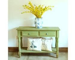 vintage primitive farmhouse side table desk green milk paint