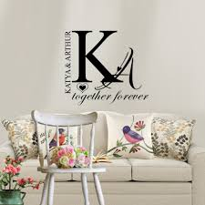 online buy wholesale couples bedroom decor from china couples personalized couple name wall sticker creative individual decals wallpaper for home bedroom decoration china