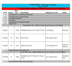 Excel Template Schedule Sle Shooting Schedule 9 Documents In Pdf Word Excel
