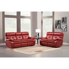 Recliner Sofa Sets Sale by 1 759 00 Wallace 2pc Double Reclining Sofa Set In Red Bonded