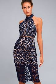 blue lace dress stunning navy blue lace dress midi dress lace halter dress