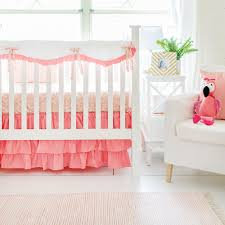 coral crib rail cover set coral u0026 gold baby bedding baby