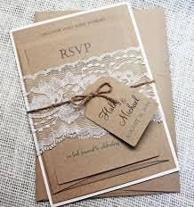 Creative Ideas For Wedding Invitation Cards Rustic Wedding Invitation Kits Marialonghi Com
